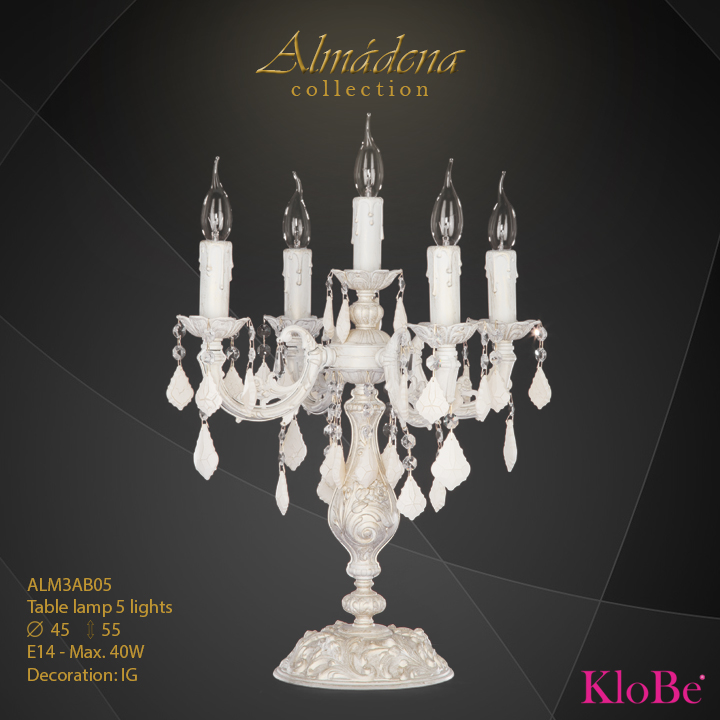 ALM3AB05- table Lamp 5 L  Almadena collection KloBe Classic