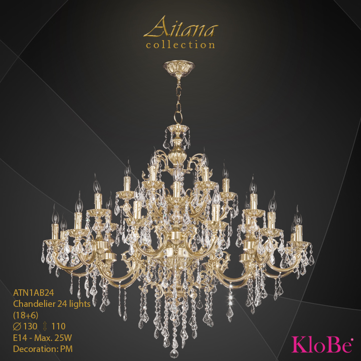ATN1AB24- Chandelier 24 L  Aitana collection KloBe Classic