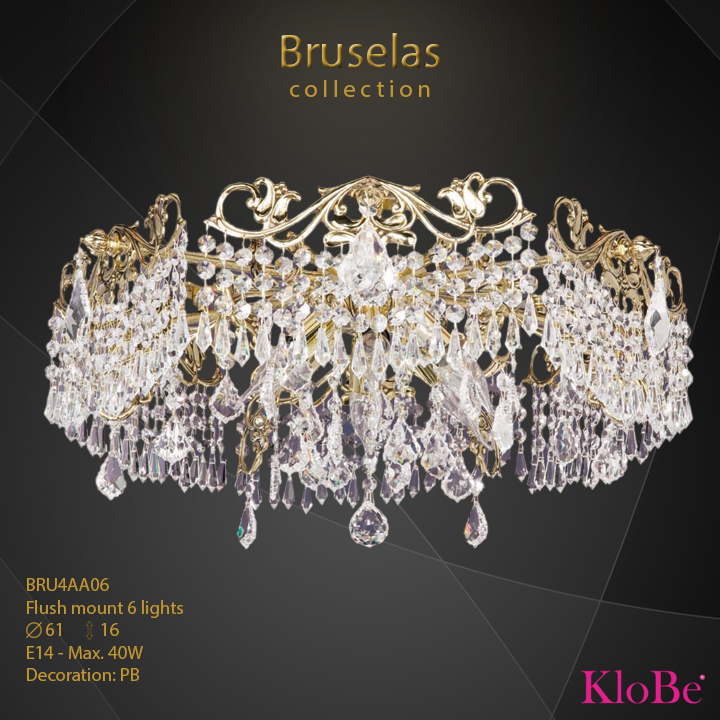 BRU4AA06 - Flush mount 6 L  Bruselas collection KloBe Classic