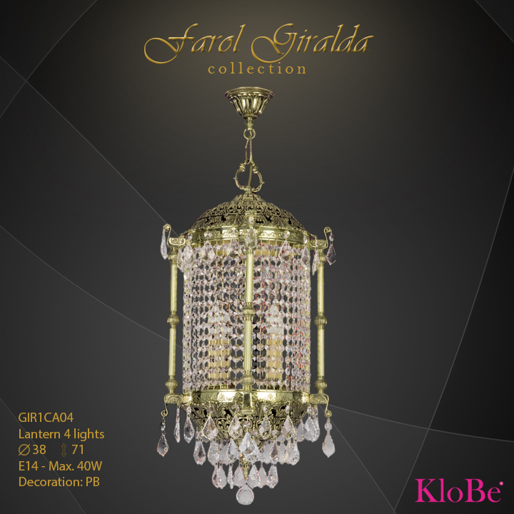 GIR1CA04-Lantern 4 L Faroles collection KloBe Classic