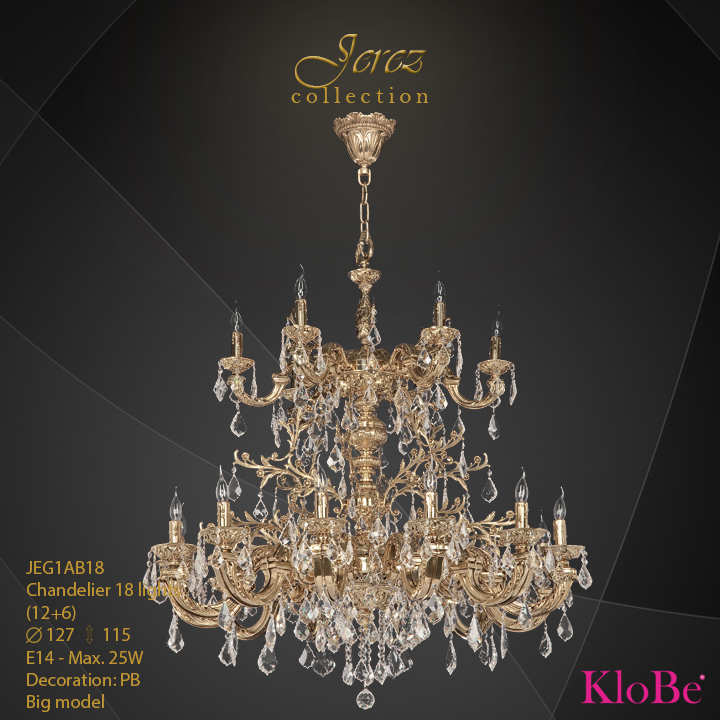 JEG1AB18 - Chandelier 18 L Jerez collection KloBe Classic