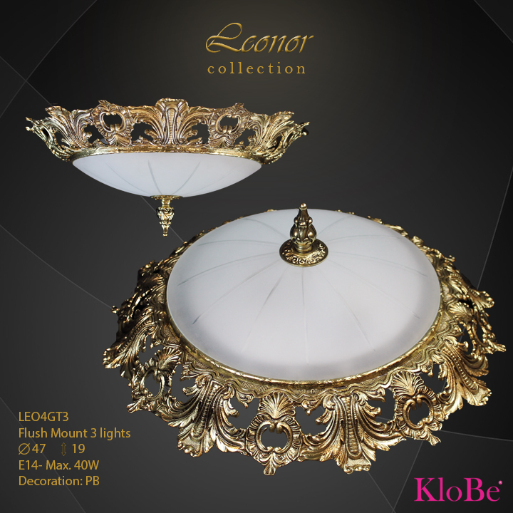 LEO4GT3 - Flush Mount 3 L Leonor collection KloBe Classic