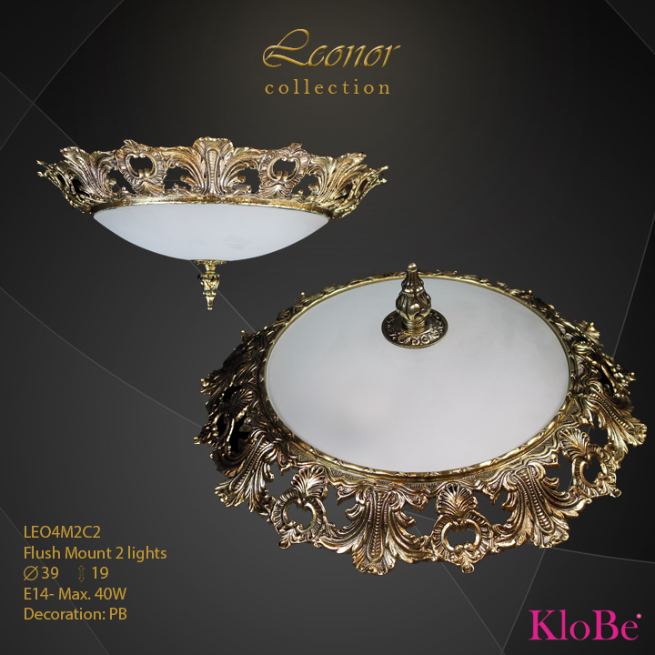 LEO4M2C2 - Flush Mount 2 L Leonor collection KloBe Classic