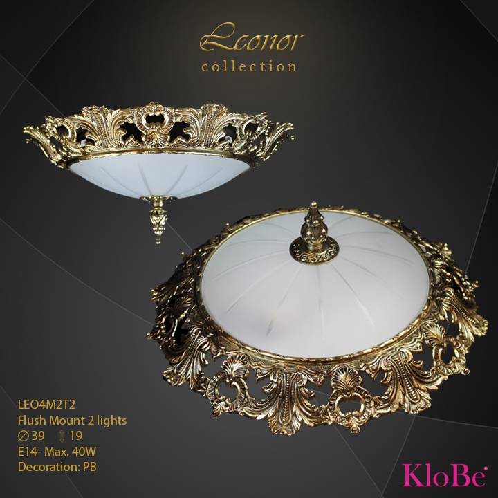 LEO4M2T2 - Flush Mount 2 L Leonor collection KloBe Classic