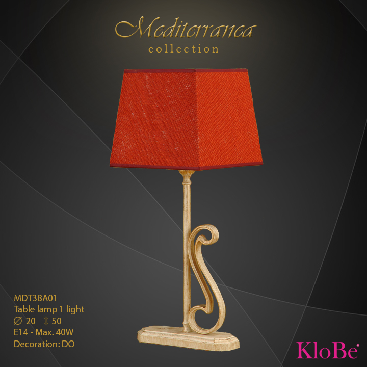 MDT3BA01 (DO) - TL  1L  Mediterranea collection KloBe Classic
