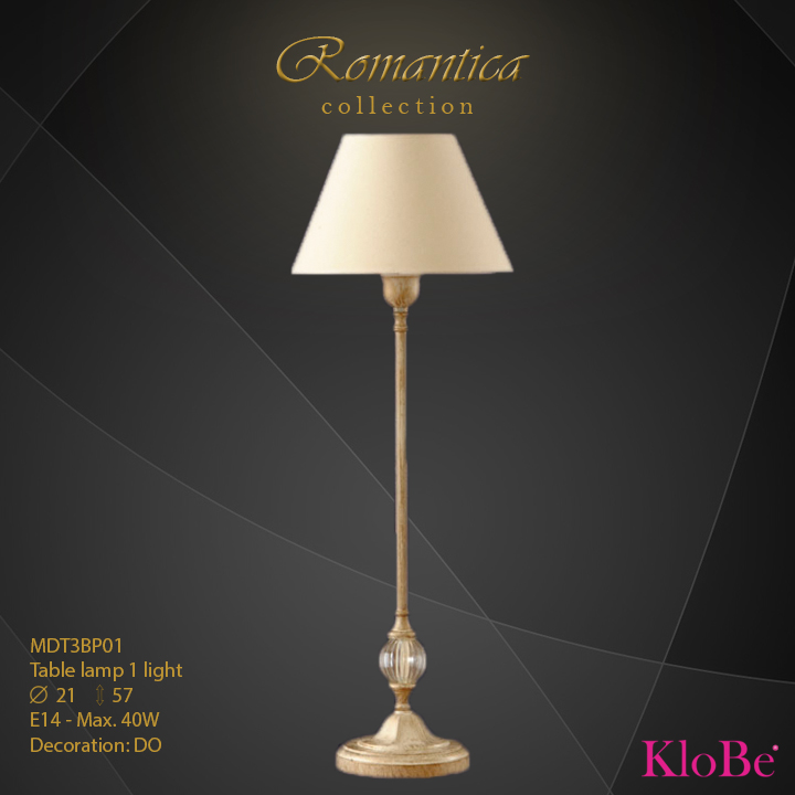 RMT3BP01 (DO) - TL  1L  Romantica collection KloBe Classic