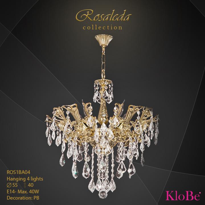 ROS1BA04  - HANGING  4L  Ribera collection KloBe Classic