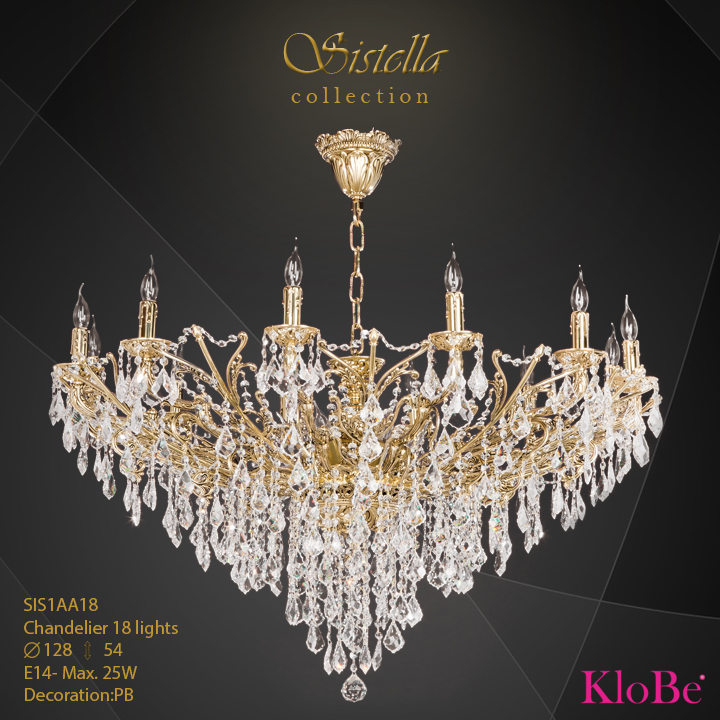 SIS1AA18  - CHANDELIER  18L  Sistella collection KloBe Classic