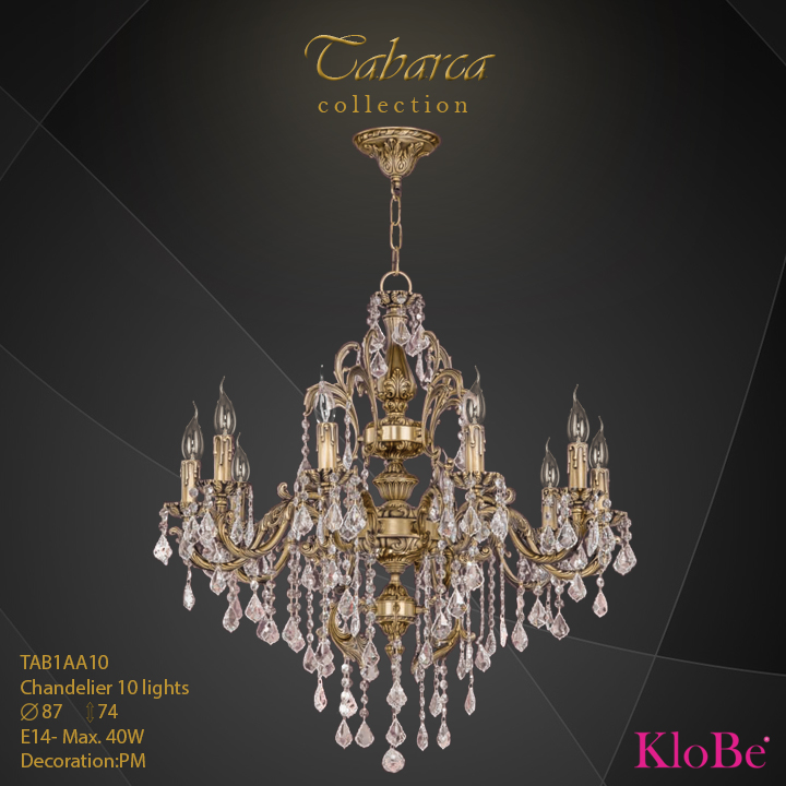 TAB1AA10  - CHANDELIER  10L  Tabarca collection KloBe Classic