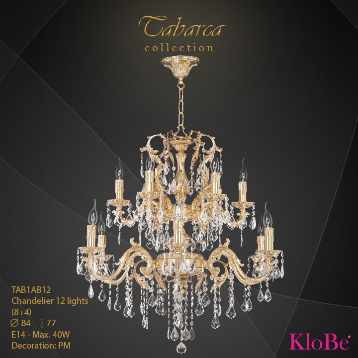 TAB1AB12  - CHANDELIER  12L  Tabarca collection KloBe Classic