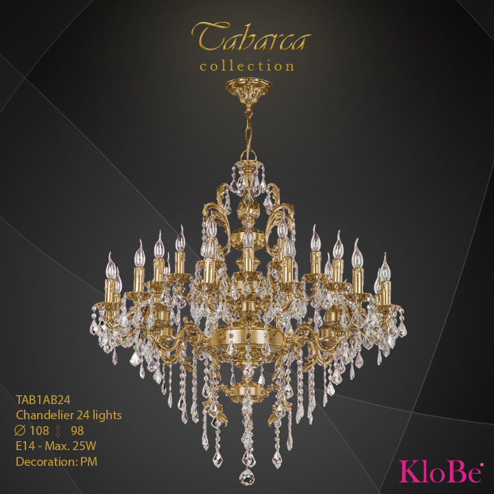 TAB1AB24  - CHANDELIER  24L  Tabarca collection KloBe Classic