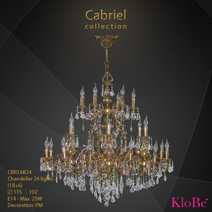 CBR1AB24 - Chandelier 24 L Cabriel collection KloBe Classic