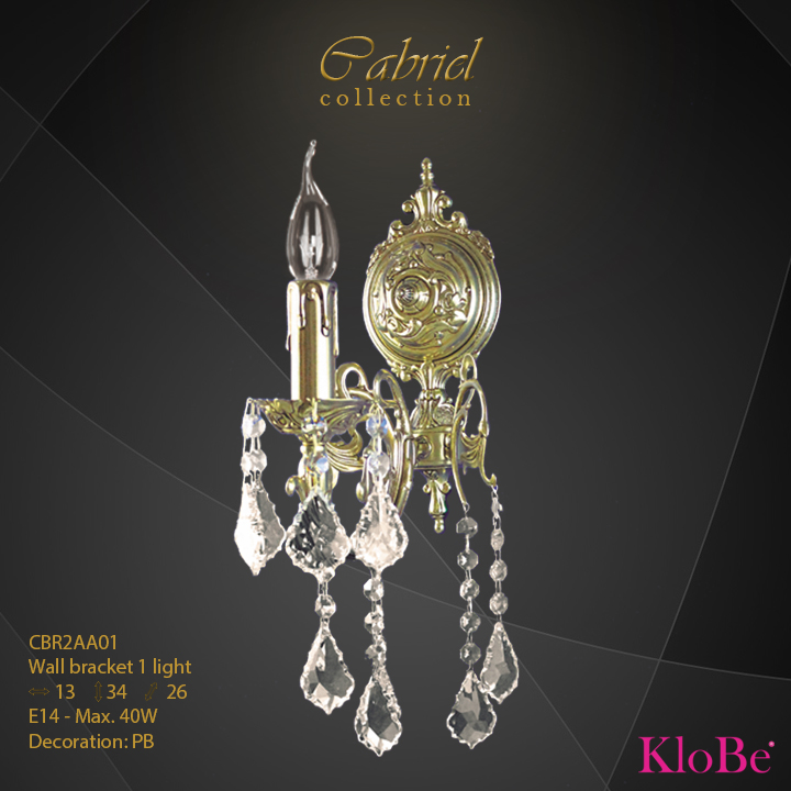 CBR2AA01 - Wall Bracket 1 L Cabriel collection KloBe Classic
