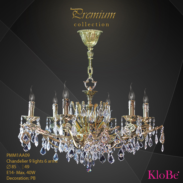 PMM1AA09 - Chandelier 9 L Premium collection KloBe Classic