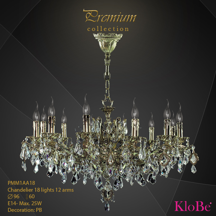 PMM1AA18 - Chandelier 18 L Premium collection KloBe Classic