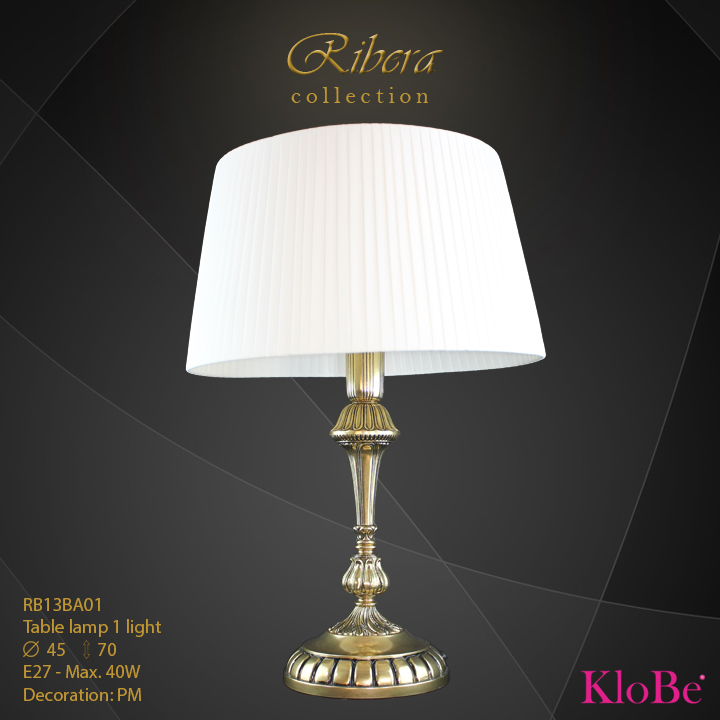 RBR13BA01  - TL  1L  Ribera collection KloBe Classic