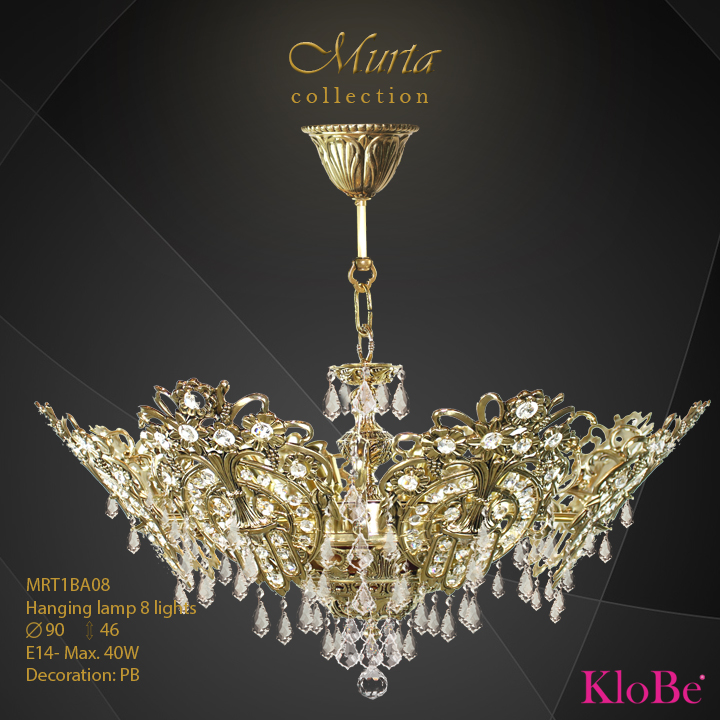 Hanging lamp 8 lights - Murta collection - KloBe Classic