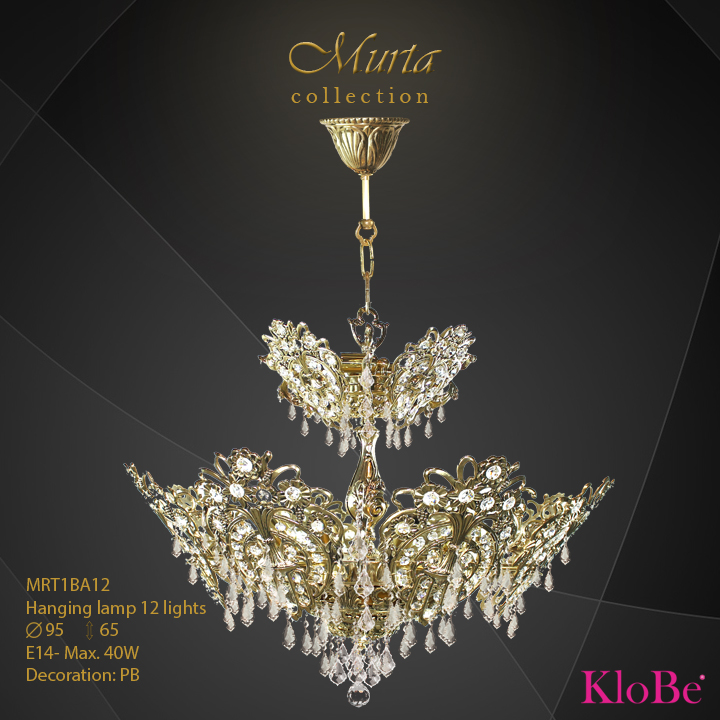 Hanging lamp 12 lights - Murta collection - KloBe Classic