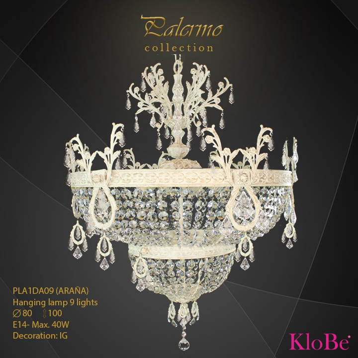 PLA1DA09 (ARANA) -Hanging lamp 9 L Palermo collection KloBe Classic