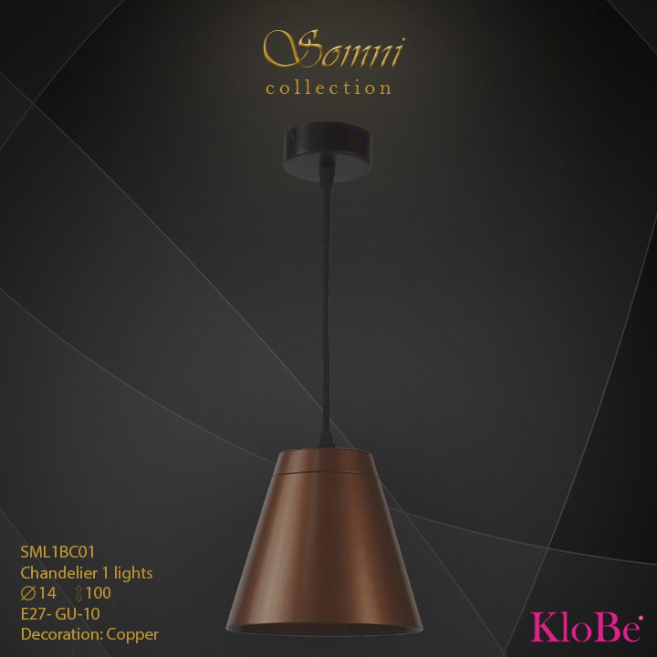 SML1BC01 - CHANDELIER  1L  Somni collection KloBe Classic