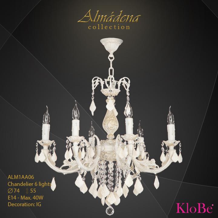 Luminaria de araña 6 luces - Colección Almádena - KloBe Classic