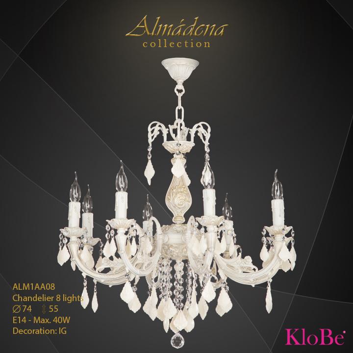 Luminaria de araña 8 luces - Colección Almádena - KloBe Classic