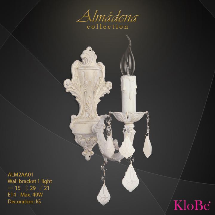 Aplique de pared de 1 luz - Colección Almádena - KloBe Classic