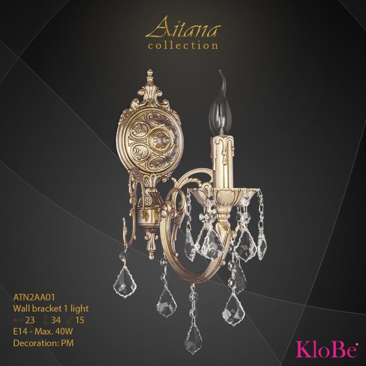 Aplique de pared 1 luz - colección Aitana - KloBe Classic