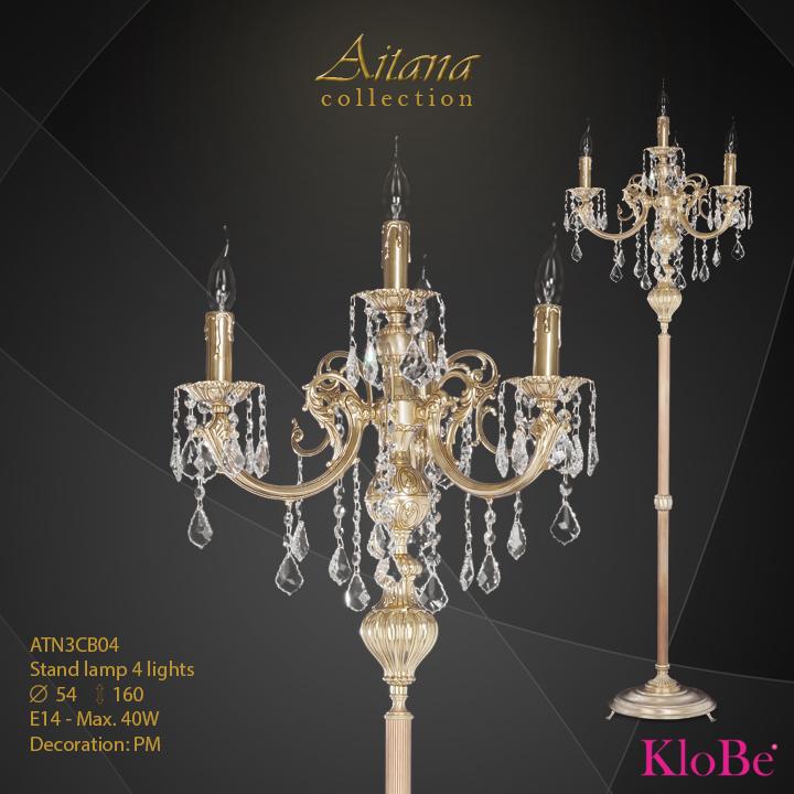 Luminaria de pie 4 luces - colección Aitana - KloBe Classic
