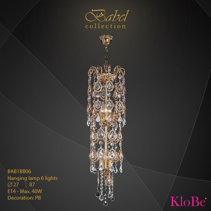 Luminaria colgante 6 luces - colección Babel - KloBe Classic