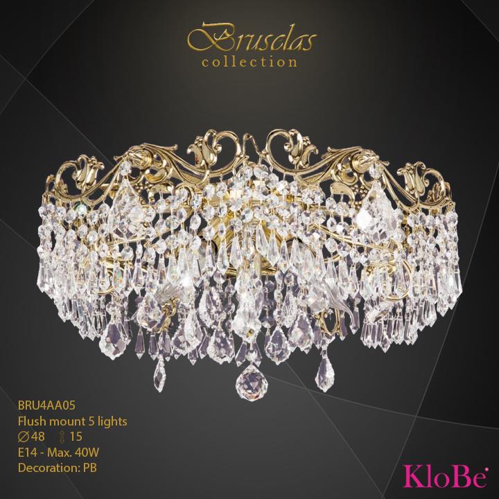 Luminaria empotrada 5 luces - Colección Bruselas - KloBe Classic