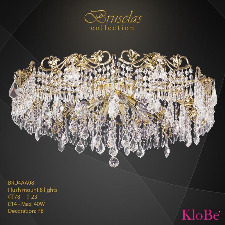 Luminaria empotrada 8 luces - Colección Bruselas - KloBe Classic