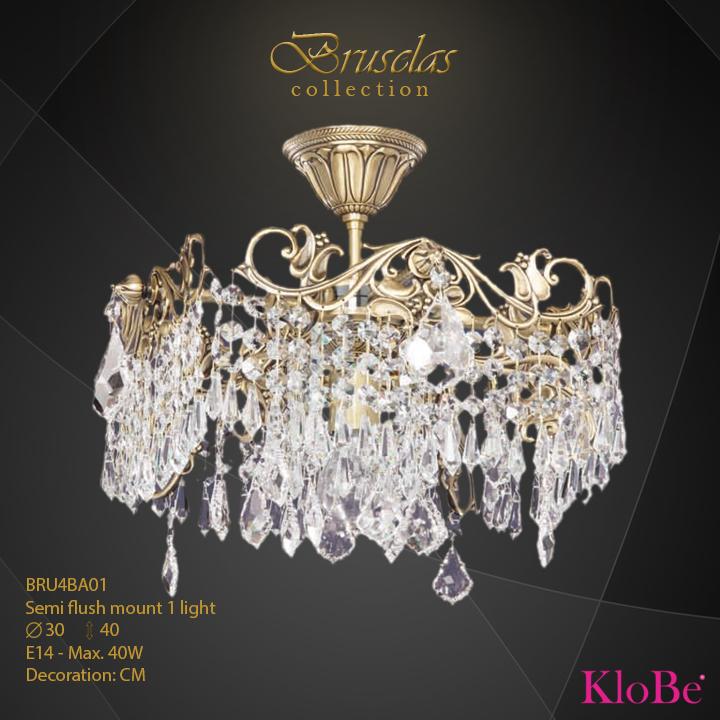 Luminaria semi empotrada 1 luz - Colección Bruselas - KloBe Classic