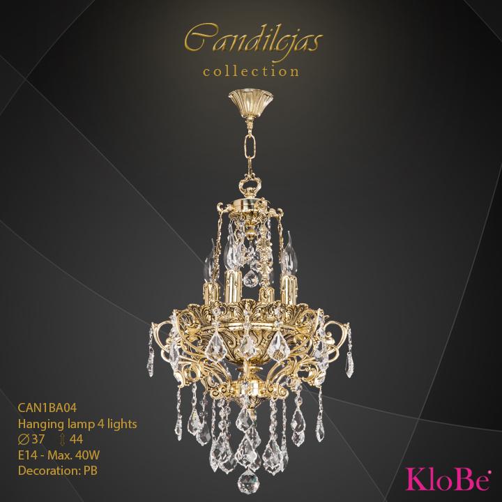 Luminaria colgante 4 luces - colección Candilejas - KloBe Classic