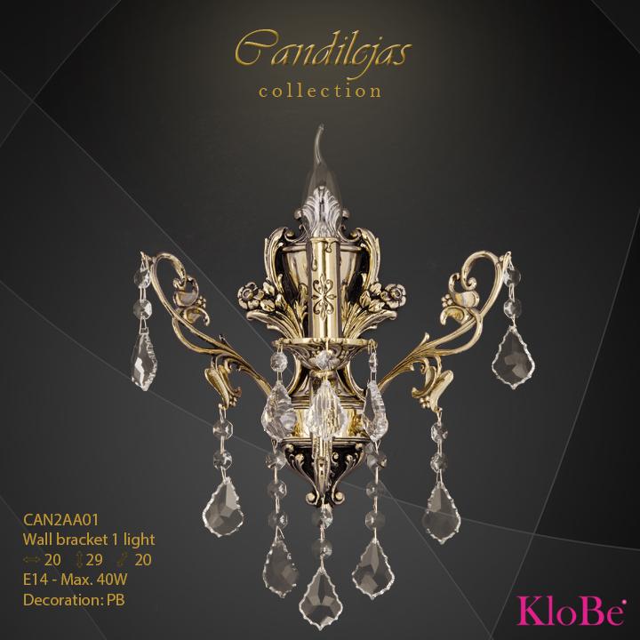 Aplique de pared 1 luz - colección Candilejas - KloBe Classic