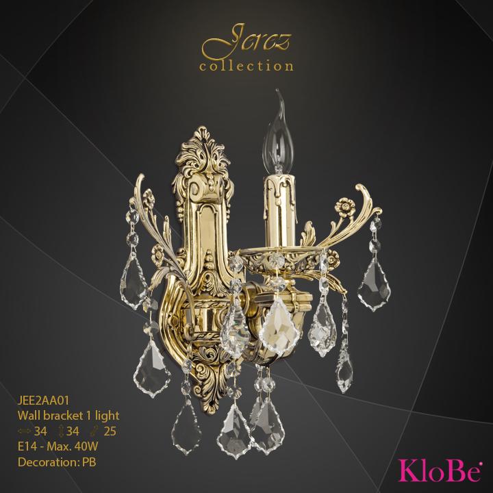 Aplique de pared 1 luz - Colección Jerez - KloBe Classic
