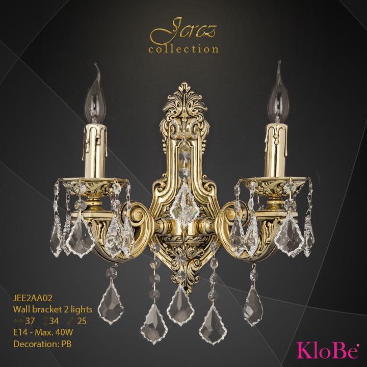Aplique de pared 2 luces - Colección Jerez - KloBe Classic
