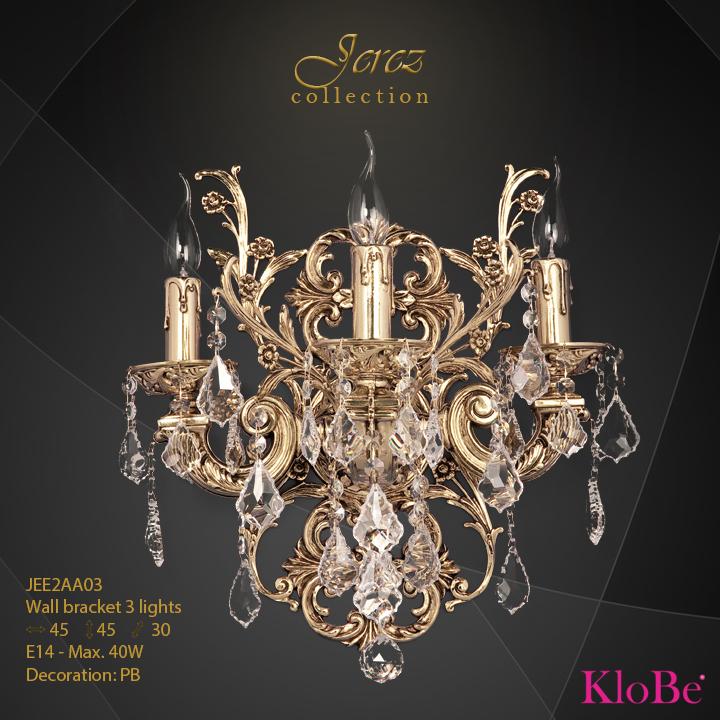 Aplique de pared 3 luces - Colección Jerez - KloBe Classic