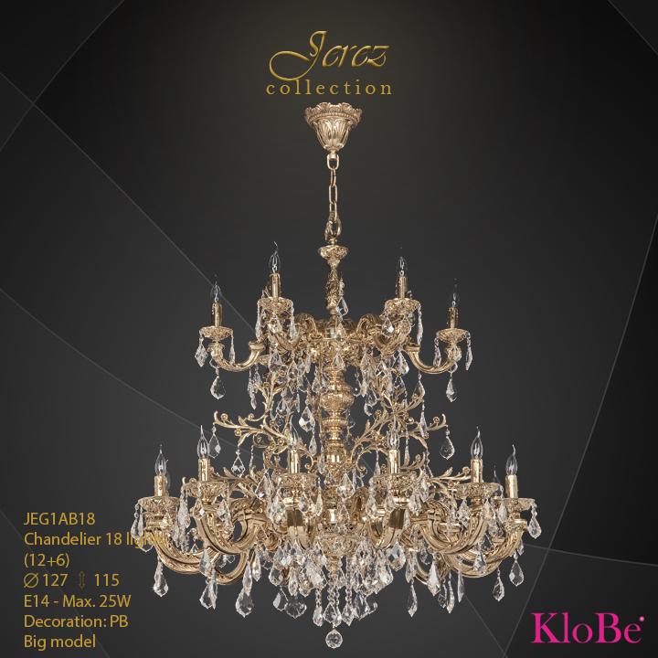Luminaria de araña 18 luces - Colección Jerez - KloBe Classic