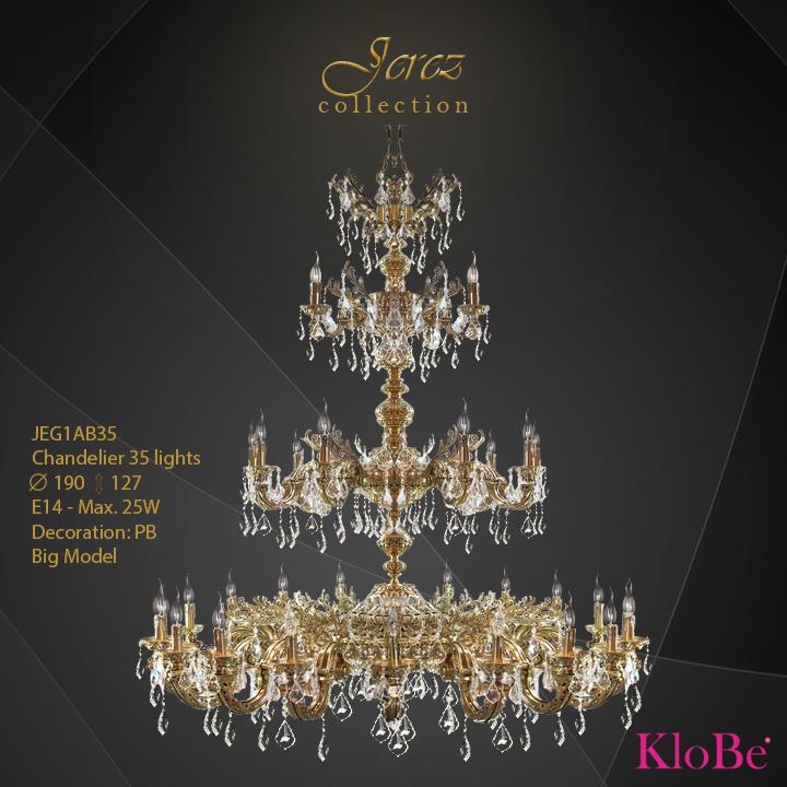 Luminaria de araña 35 luces - Colección Jerez - KloBe Classic