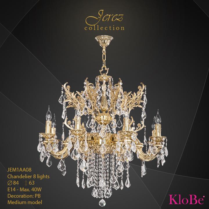 Luminaria de araña 8 luces - Colección Jerez - KloBe Classic