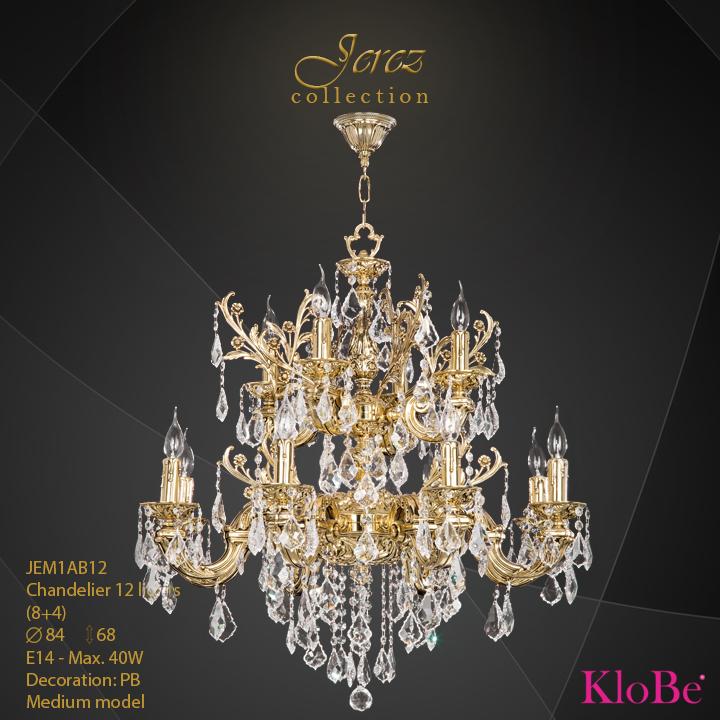 Luminaria de araña 12 luces - Colección Jerez - KloBe Classic