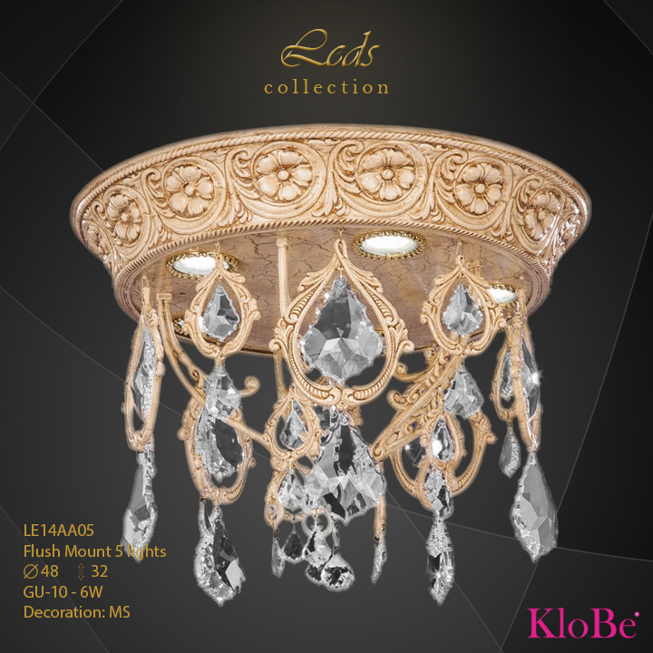 Luminaria empotrada 5 luces - Coleccións Leds - KloBe Classic
