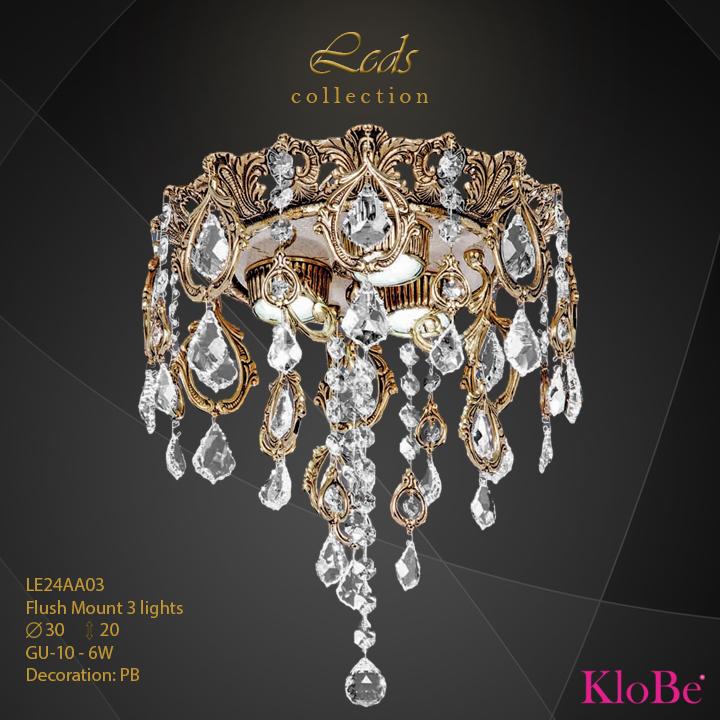 Luminaria empotrada 3 luces - Coleccións Leds - KloBe Classic