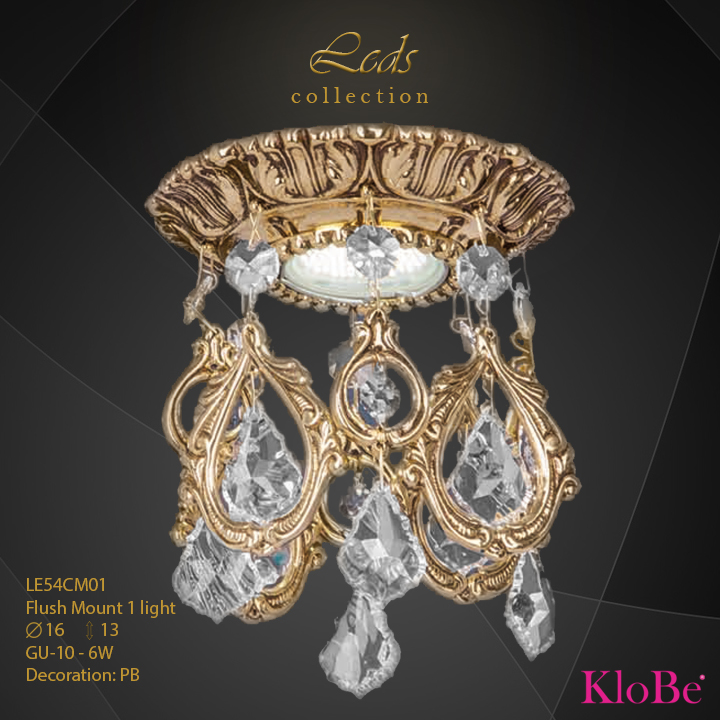 Foco 1 luz - Colección Leds - KloBe Classic