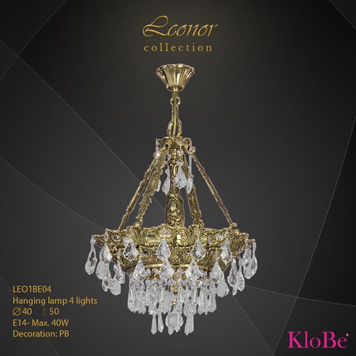 Luminaria colgante 4 luces - Colección Leonor - KloBe Classic