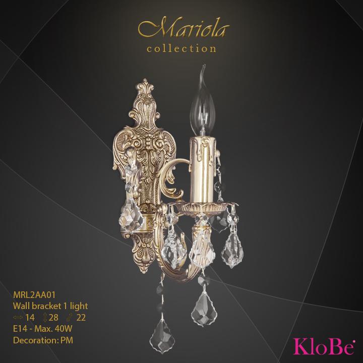 Aplique de pared 1 luz - colección Mariola - KloBe Classic