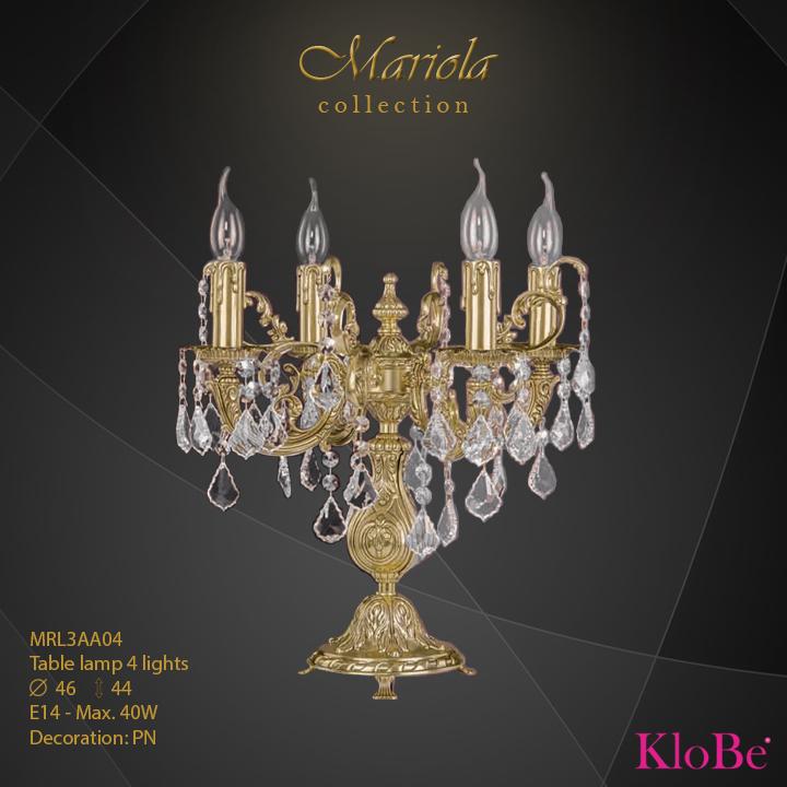 Luminaria de sobremesa 4 luces - colección Mariola - KloBe Classic