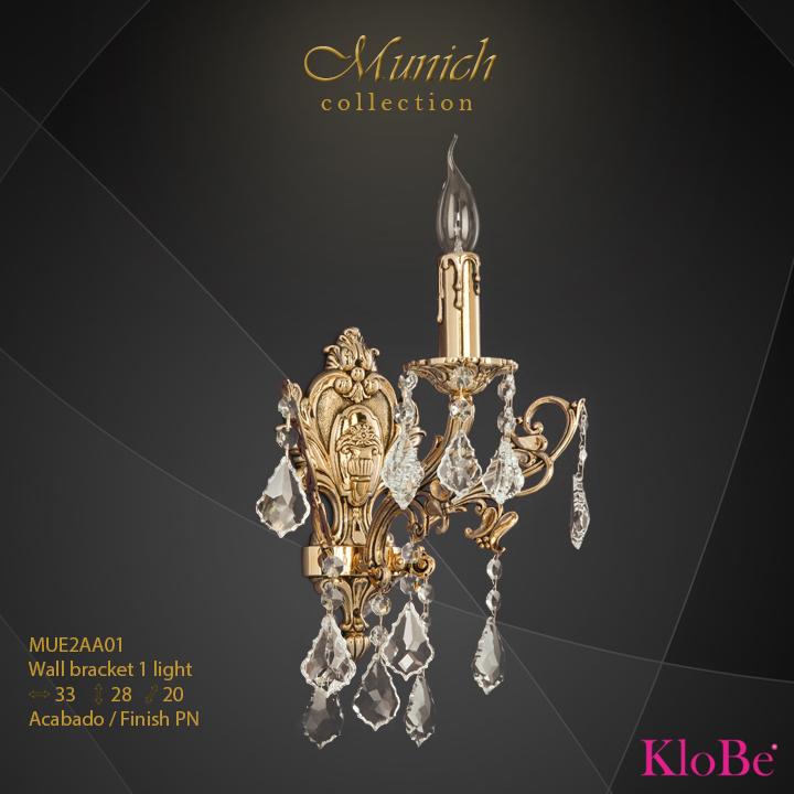 Aplique de pared 1 luz - colección Munich - KloBe Classic