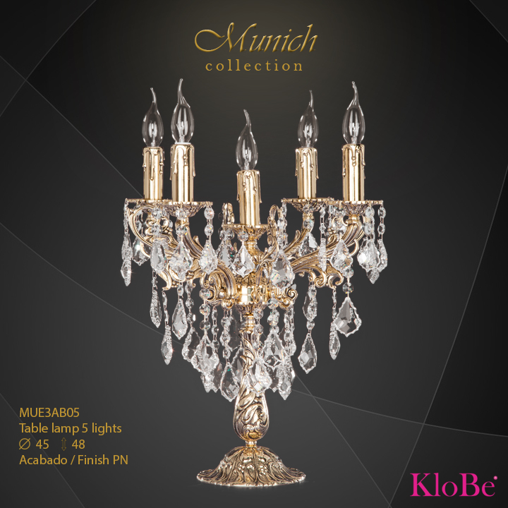 Luminaria de sobremesa 5 luces - colección Munich - KloBe Classic